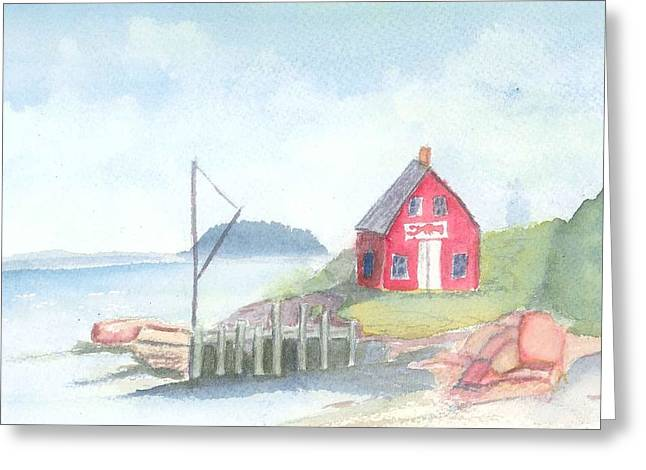 Lobster Shack Paintings Greeting Cards - Lobster Shack Greeting Card by David Crowell