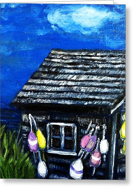 Lobster Shack Paintings Greeting Cards - Lobster Shack Greeting Card by Deb Wolf