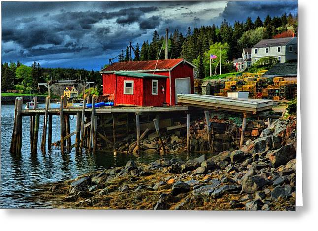 Lobster Shack Greeting Cards - Lobster Shack Greeting Card by Perry Frantzman