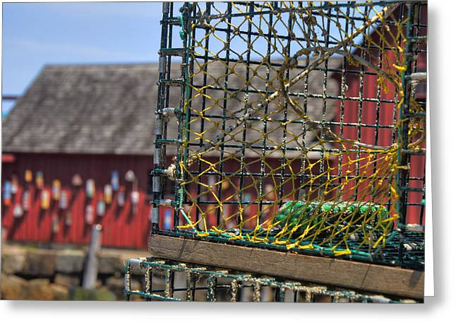 Lobster Shack Greeting Cards - Lobster Traps in Rockport Greeting Card by Joann Vitali
