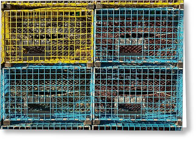 Lobster Traps Greeting Card by Stuart Litoff