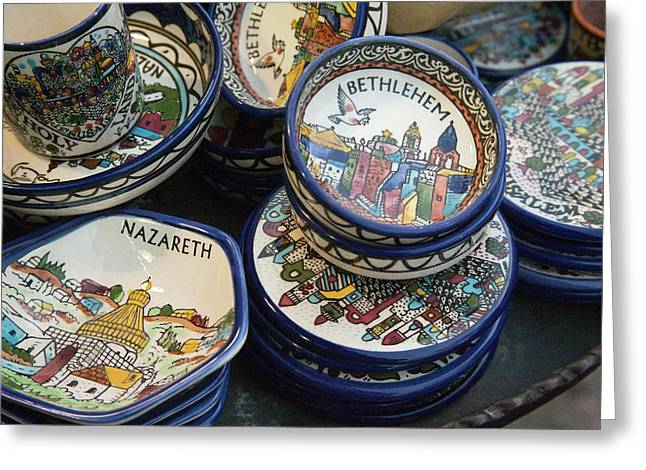 Local Ceramic Ware With Biblical Themes Greeting Card by Dave Bartruff