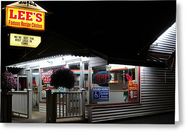 Guy Ricketts Photography Greeting Cards - Local Chicken Shack Greeting Card by Guy Ricketts