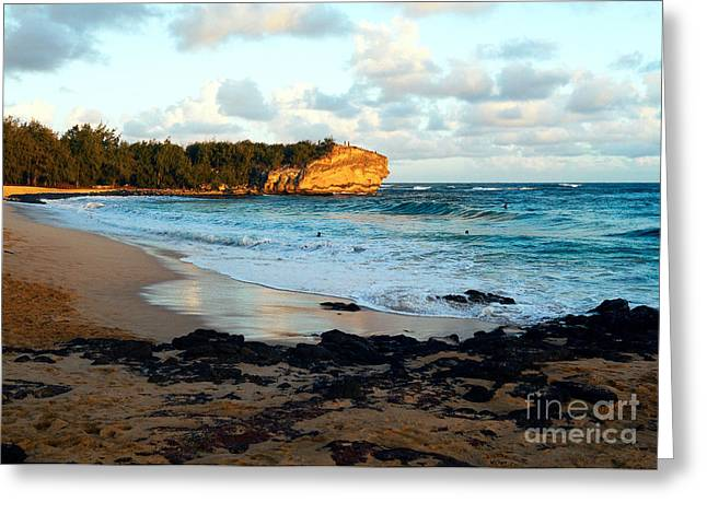 Surfing Photos Greeting Cards - Local Surf Spot Kauai Greeting Card by Roselynne Broussard