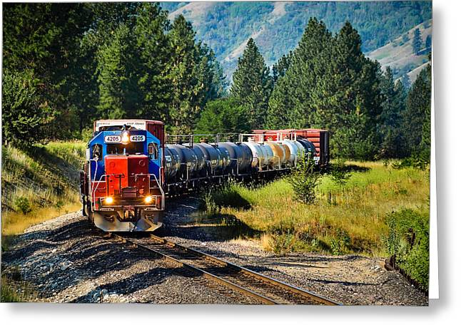 Train Photography Greeting Cards - Local Train Greeting Card by Robert Bales