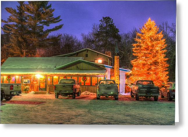 Northwoods Greeting Cards - Local Watering Hole Greeting Card by Paul Freidlund