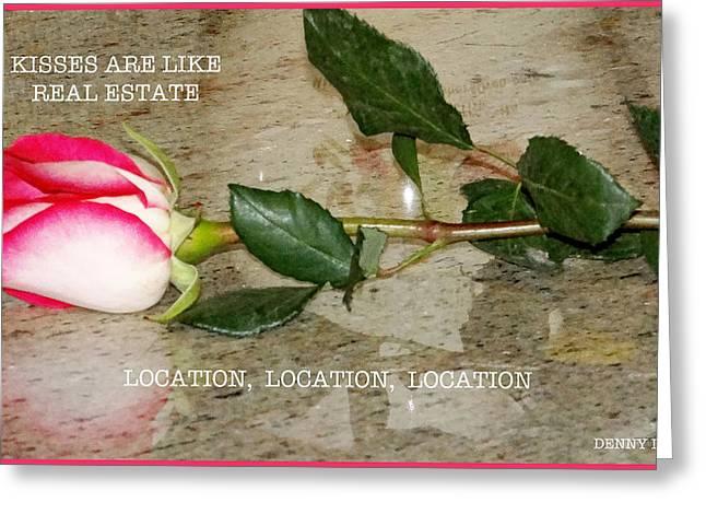 Wedding Salon Greeting Cards - Location Greeting Card by Dennis Dugan