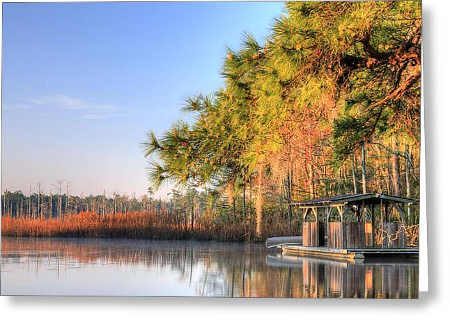 Fishing Creek Greeting Cards - Location Location Location Greeting Card by JC Findley