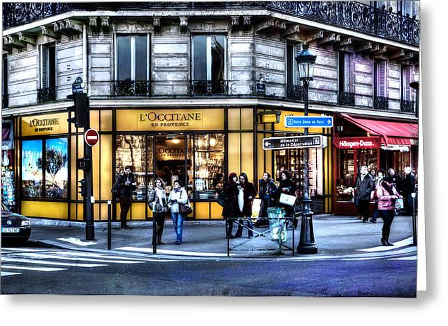 Pause Greeting Cards - LOccitane Paris France Greeting Card by Evie Carrier