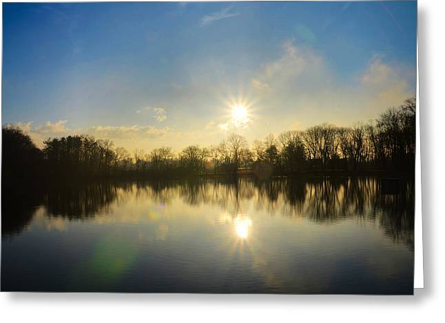 Loch Alsh At Sunrise - Ambler Pa Greeting Card by Bill Cannon