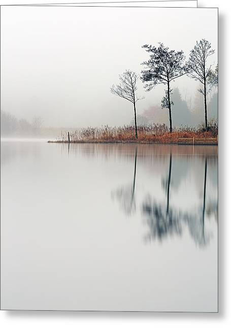 Recently Sold -  - Reflection In Water Greeting Cards - Loch Ard Reflections Greeting Card by Grant Glendinning