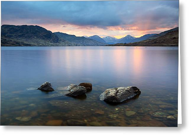 Scottish Scenic Greeting Cards - Loch Arklet Sunset Greeting Card by Grant Glendinning
