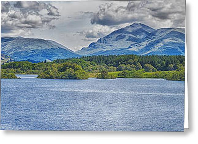 Campbell Clan Greeting Cards - Loch Awe Panorama Greeting Card by Antony McAulay