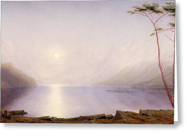 Loch Duich, Summer Moonlight Greeting Card by William Turner