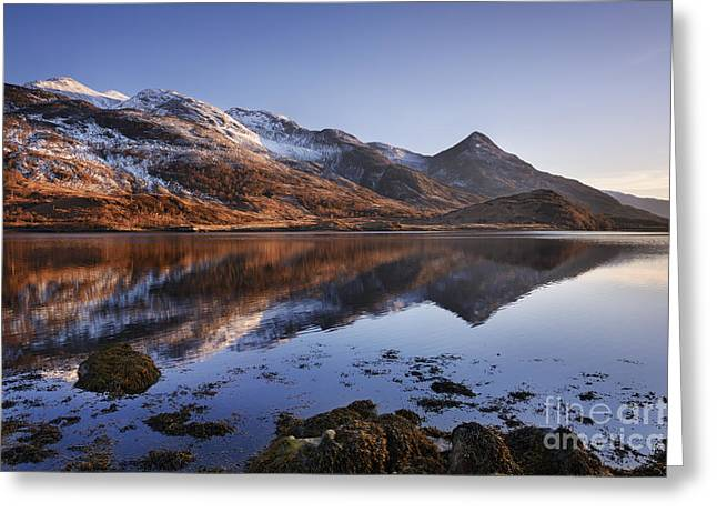 Glen Coe Greeting Cards - Loch Leven and The Pap of Glencoe Greeting Card by Rod McLean