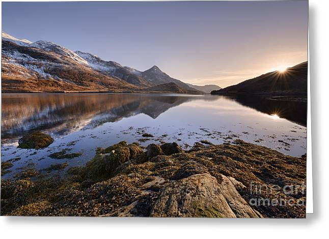 Pap Greeting Cards - Loch Leven Greeting Card by Rod McLean