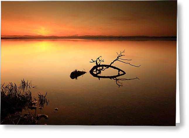 Scottish Scenic Greeting Cards - Loch Leven Sunset Greeting Card by Grant Glendinning