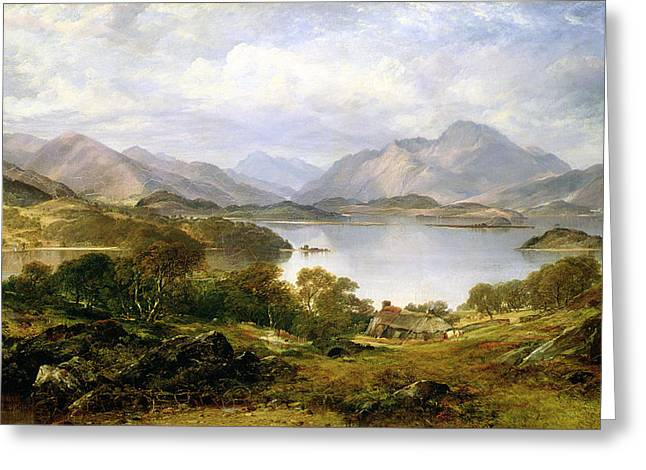 Scottish Highlands Greeting Cards - Loch Lomond, 1861 Greeting Card by Horatio McCulloch