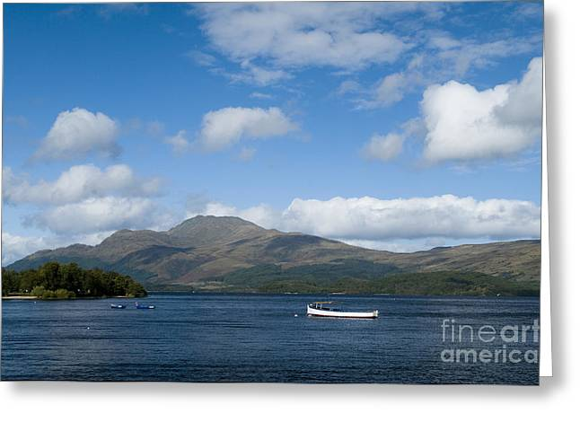 Bute Greeting Cards - Loch Lomond Greeting Card by Anne Gilbert