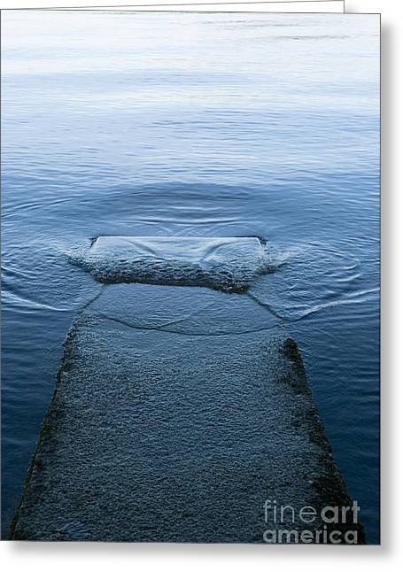 Lapping Greeting Cards - Loch Lomond Jetty Greeting Card by Anne Gilbert