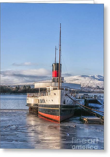 Beautiful Scenery Greeting Cards - Loch Lomond Paddle Steamer Greeting Card by Antony McAulay