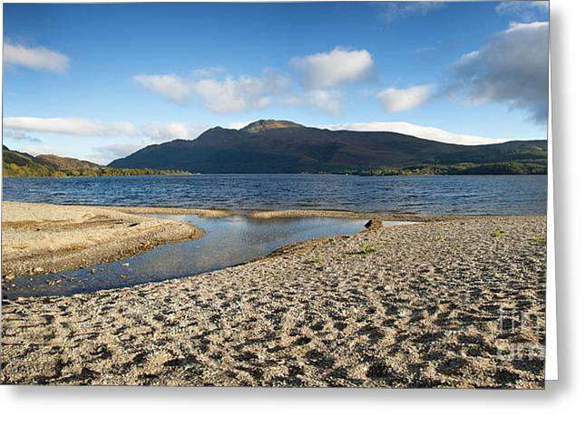 Beautiful Scenery Photographs Greeting Cards - Loch Lomond pano Greeting Card by Jane Rix
