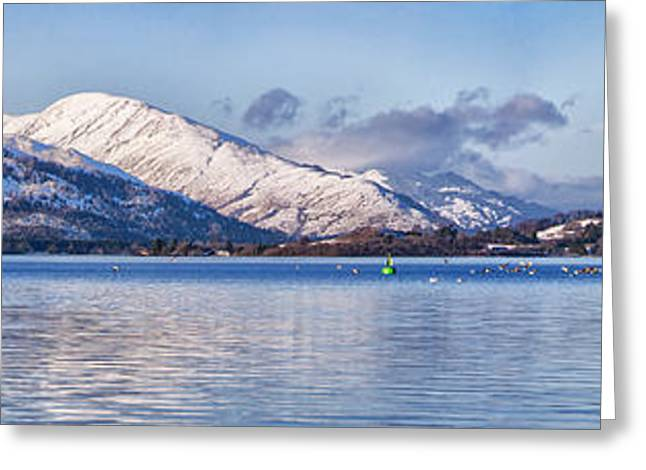 loch lomond panorama Greeting Card by Antony McAulay