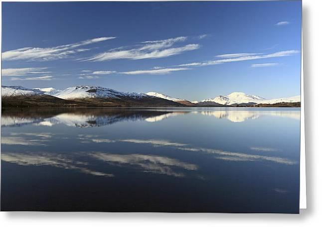 Scotland Wall Art Greeting Cards - Loch Lomond reflection Greeting Card by Grant Glendinning