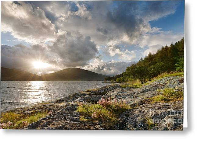 Stormy Clouds Greeting Cards - Loch Lomond Greeting Card by Rod McLean