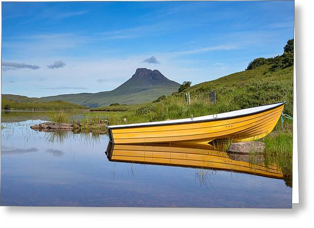 Polly Lake Greeting Cards - Loch Lurgainn Reflections Greeting Card by Ross Hutton