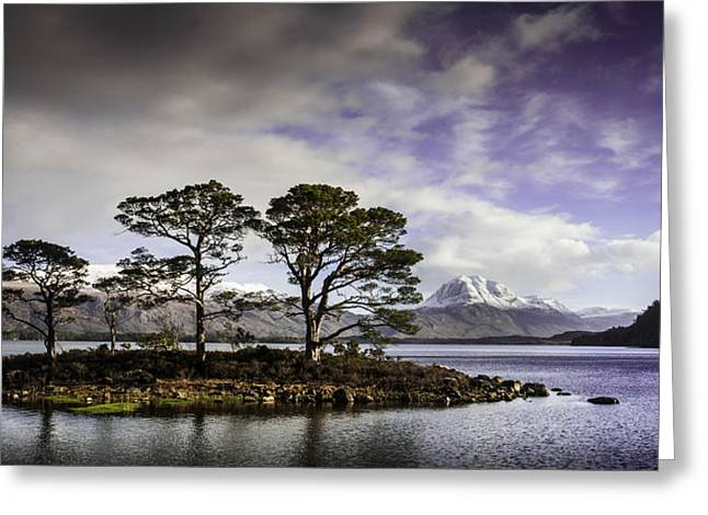 Slioch Greeting Cards - Loch Maree Greeting Card by Bob Falconer