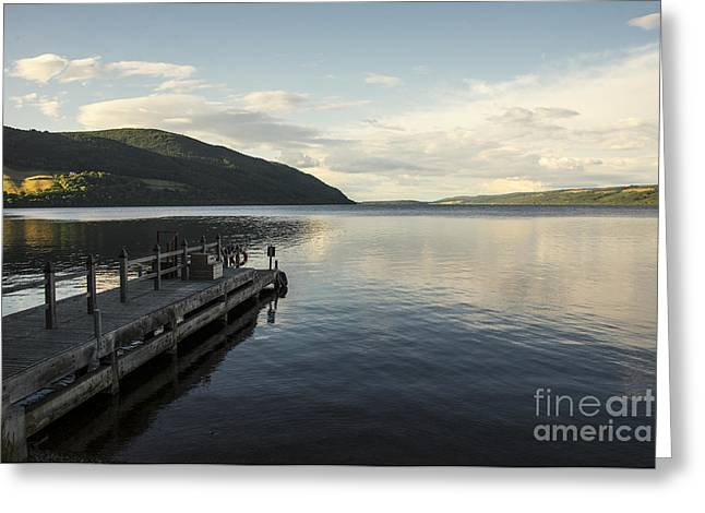 Landing Stage Greeting Cards - Loch Ness pier  Greeting Card by Rob Hawkins