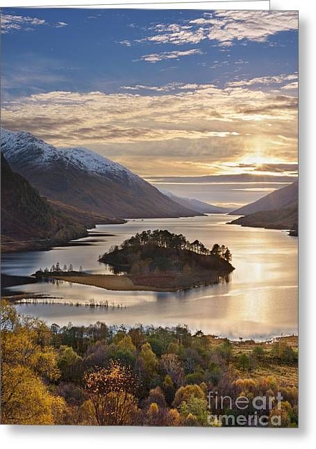 Snow Capped Photographs Greeting Cards - Loch Shiel Greeting Card by Rod McLean