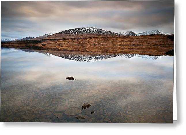 Lochan Greeting Cards - Loch Tulla Greeting Card by Grant Glendinning