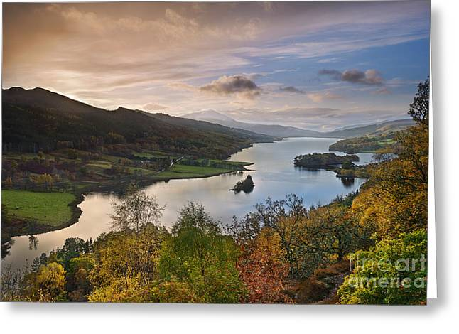 Evening Lights Greeting Cards - Loch Tummel Greeting Card by Rod McLean
