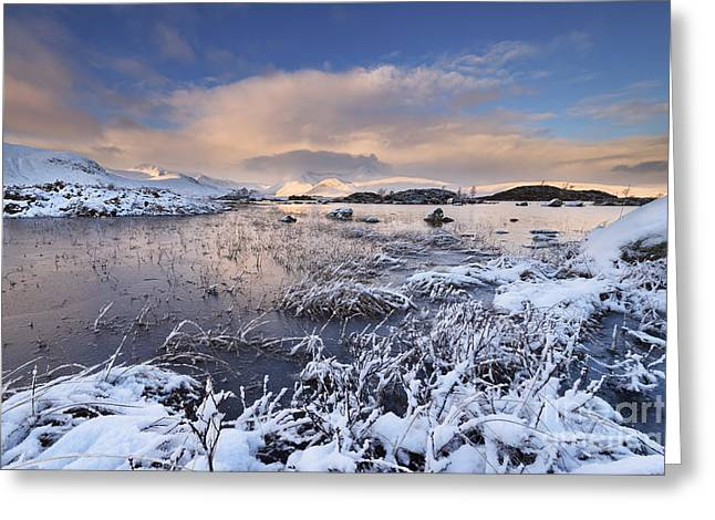 Lochan Greeting Cards - Rannoch Moor Greeting Card by Rod McLean