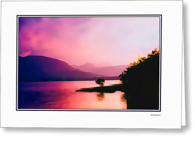 Artistic Landscape Photos Greeting Cards - Lochlien Ireland Oil effect Greeting Card by Tom Prendergast