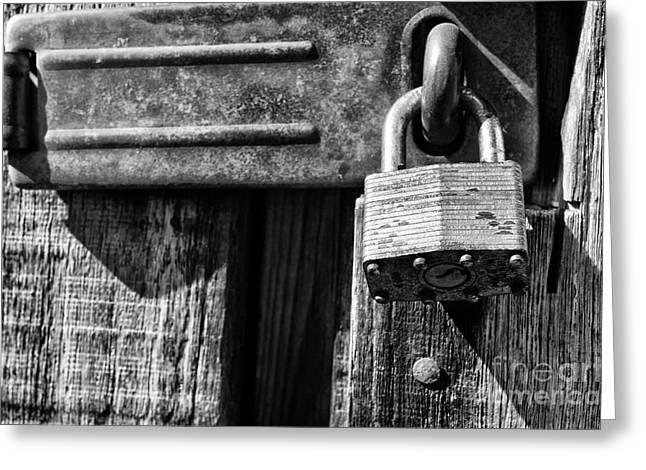 Outbuildings Greeting Cards - Lock and Latch Greeting Card by Thomas R Fletcher