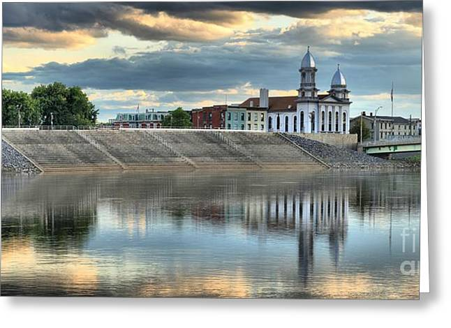 Historic Site Greeting Cards - Lock Haven In The Susquehanna Greeting Card by Adam Jewell