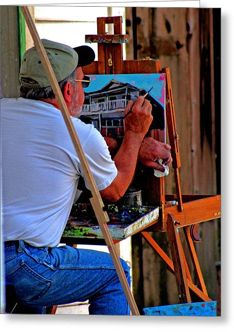Delta Town Greeting Cards - Locke Painter Greeting Card by Joseph Coulombe