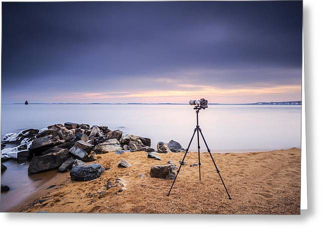 Sandy Point Park Greeting Cards - Locked And Loaded Greeting Card by Edward Kreis