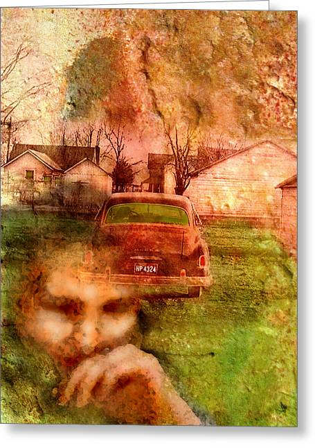 1950s Portraits Greeting Cards - Locked Cars and Unknown Destinations Greeting Card by James Huntley
