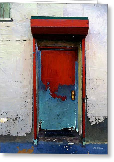 Locked Door, Hell's Kitchen Greeting Card by RC deWinter