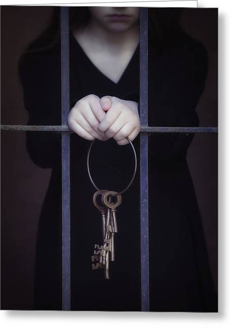 Locked-in Greeting Card by Joana Kruse