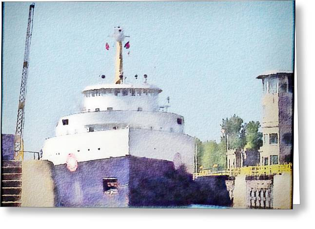 Ship Pastels Greeting Cards - Locked Ship 4 Greeting Card by Jeanette Charlebois