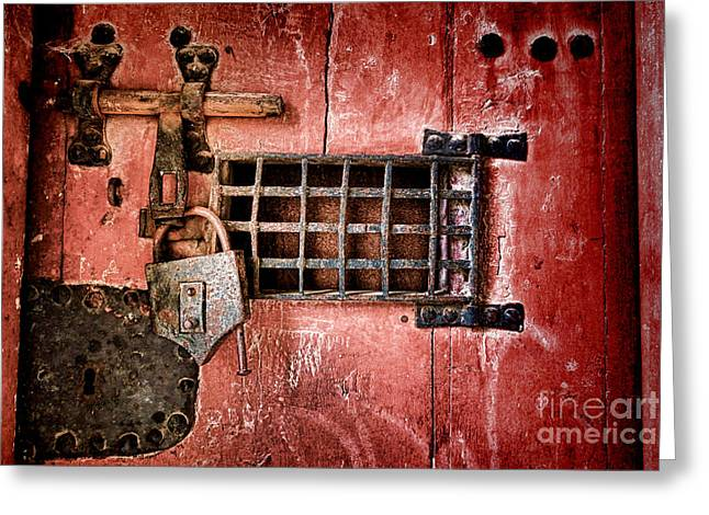 Locked Up Greeting Card by Olivier Le Queinec