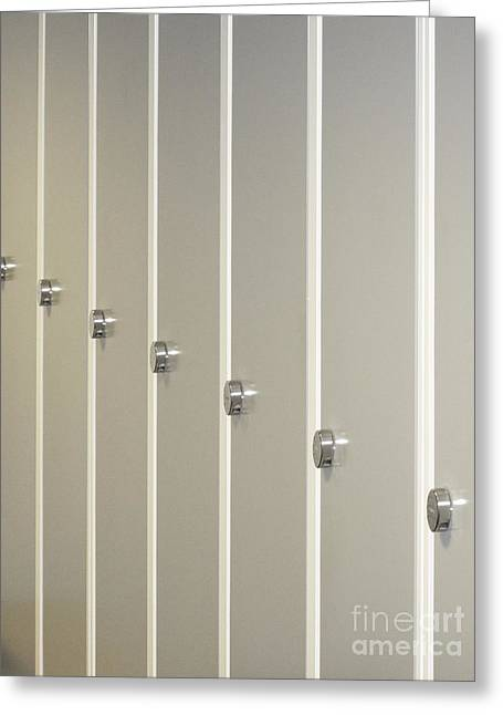 Fitting Room Greeting Cards - Lockers V Greeting Card by Ladi  Kirn