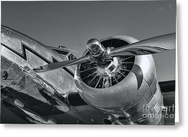 Lockheed Electra Greeting Cards - Lockheed 12A Electra Junior  Greeting Card by Olga Hamilton