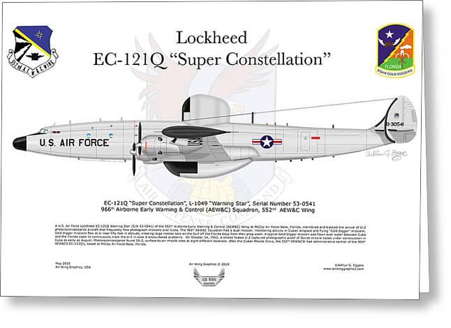 Lockheed Ec-121q Gold Diggers Greeting Card by Arthur Eggers