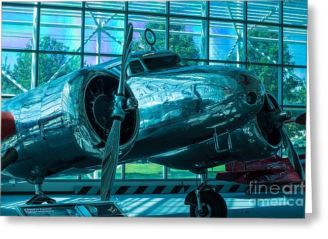 Lockheed Electra Greeting Cards - Lockheed Electra Greeting Card by Rich Priest